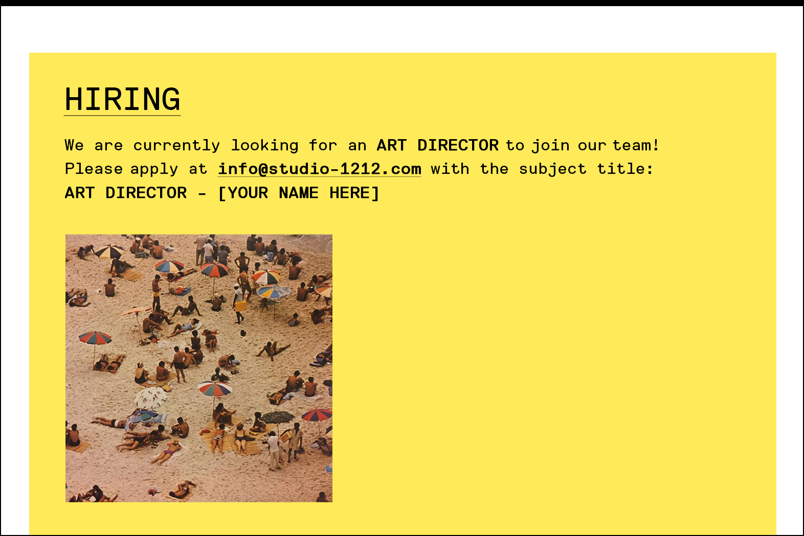 We're Hiring: Art Director - Whiteboard Journal
